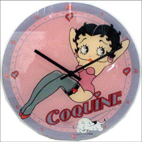 Pendule Betty Boop Coquine 30 CM