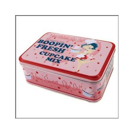 Caja metálica de Betty Boop Cupcake