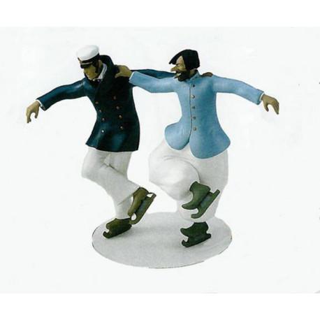 Figurine Corto Maltese and Rasputin rink