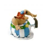 Beeldje Obelix op ijs - Asterix