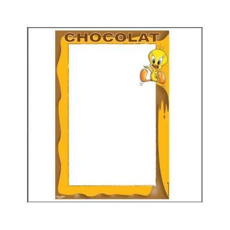 Tableau métal Titi Chocolat 40 CM