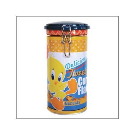 Scatola metallo cilindrica di Titi colazione