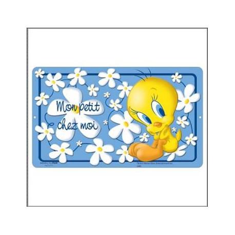 Metalen plaat deur Titi flower 27 CM