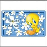 Plaque métal porte Titi Fleur 27 CM