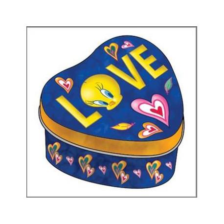 Corazón metal caja de Piolin de amor