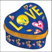 Metal heart Tweety Love box