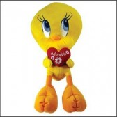 Peluche Tweety adorabile cuore CM 60
