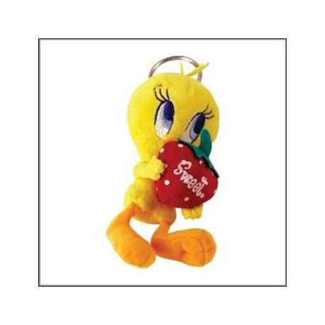 Keyring plush Tweety Strawberry 13 CM