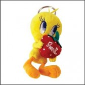 Keyring plush Tweety Strawberry 13 CM