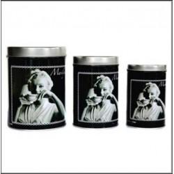 Set di 3 scatole di metallo Marilyn Monroe