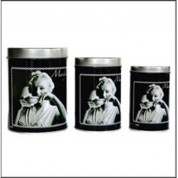 Set of 3 boxes metal Marilyn Monroe
