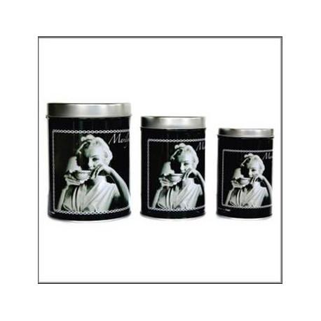 Set of 3 boxes metal Marilyn Monroe