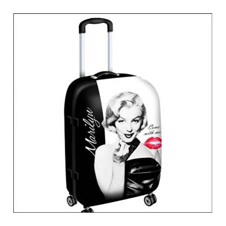 Valise Marilyn Monroe Kiss Grand Modèle
