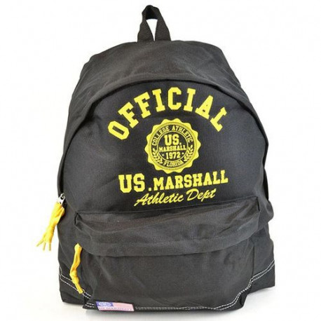 Mochila escolar US Marshall negro y amarillo 43 CM Premium