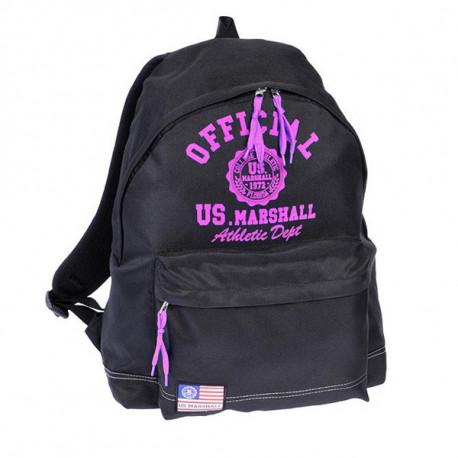 Mochila escolar US Marshall negro y rosa 43 CM Premium