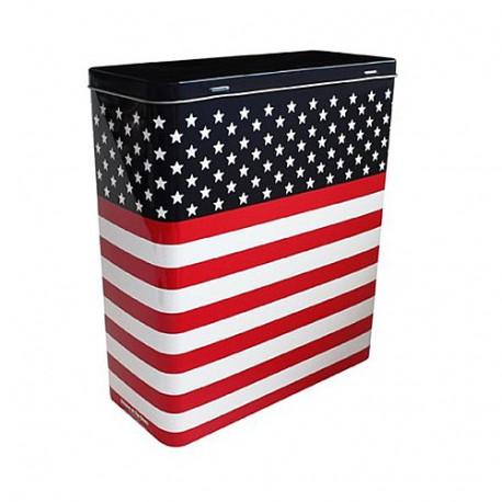 Vlag USA 26 CM rechthoek metalen doos