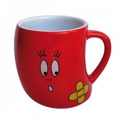Peluquero rojo taza