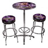 Ensemble table + 2 tabourets bar Johnny Hallyday Concert