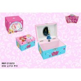 Caja de joyería musical princesa - Palacio de las mascotas