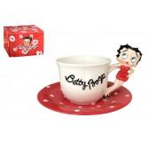 Tasse figurine Betty Boop et sous tasse