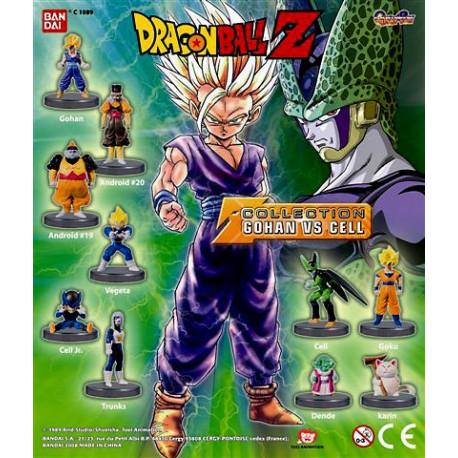 Collectie van 10 beeldjes Dragon Ball Z - Gohan vs cel