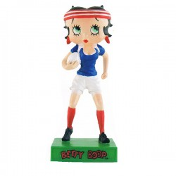Figurine Betty Boop Joueuse de rugby - Collection N°60