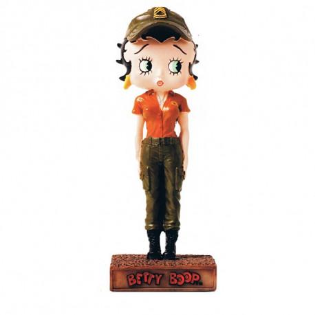 Figura Betty Boop militar - colección N ° 15