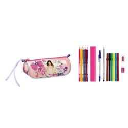 Kit vestito Violetta fiori 20 CM con 17 pezzi