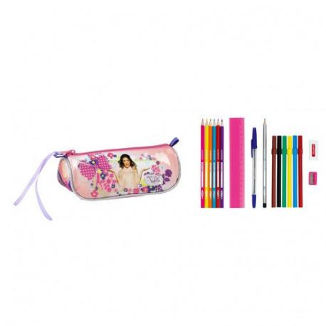 Kit gekleidet Violetta Blumen 20 CM mit 17 Stück