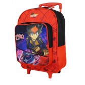 Sac à roulettes Beyblade 38 CM rouge Trolley - Cartable