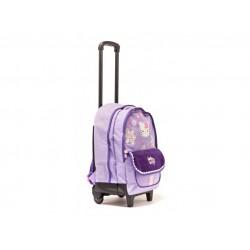 Sac à roulettes Hello Kitty 44 CM Violet Haut de gamme - Cartable