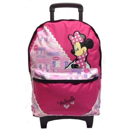 Minnie 44 CM rosa pisello Trolley High-end borsone con ruote