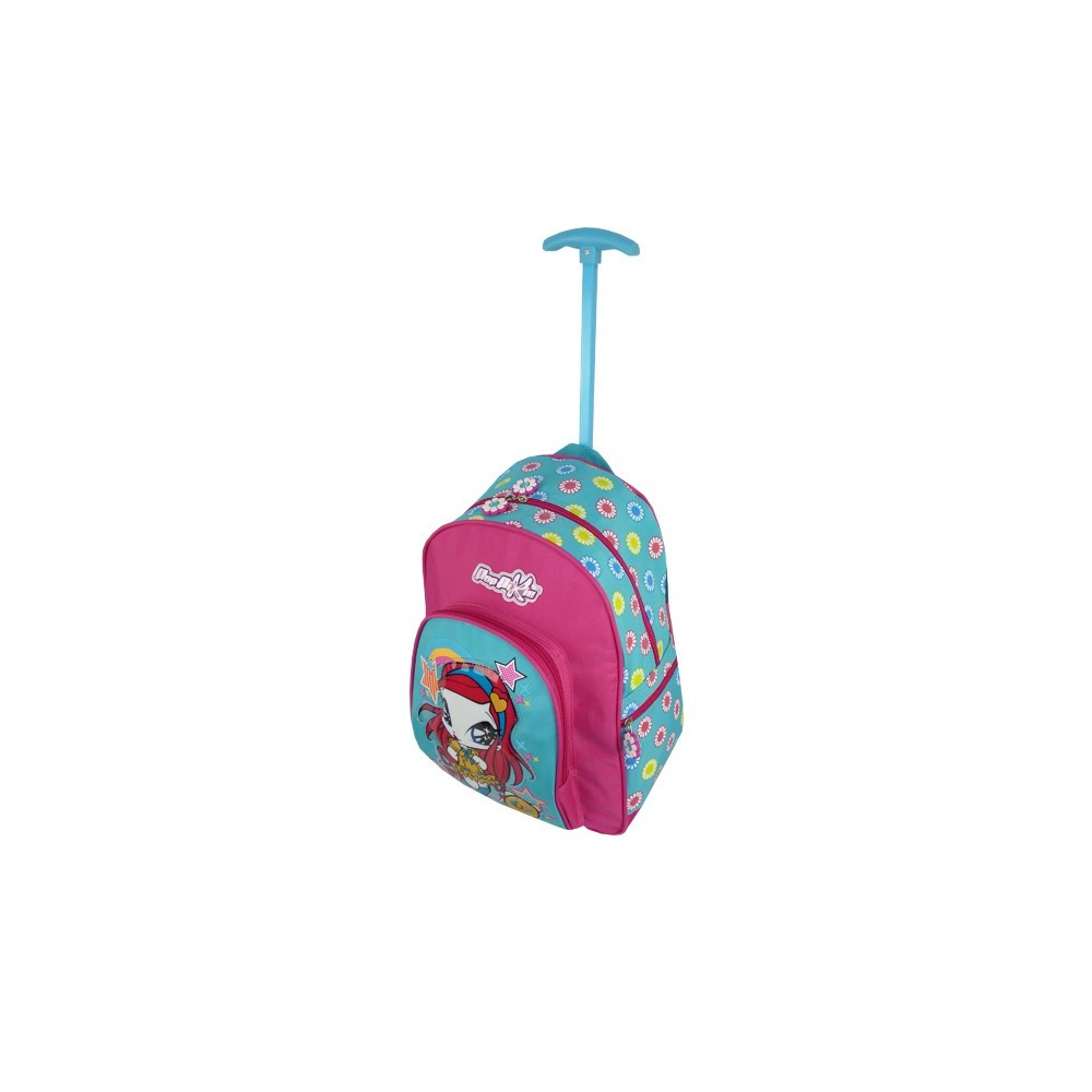 fr cartable winx club  a roulettes poppixie cm trolley amore