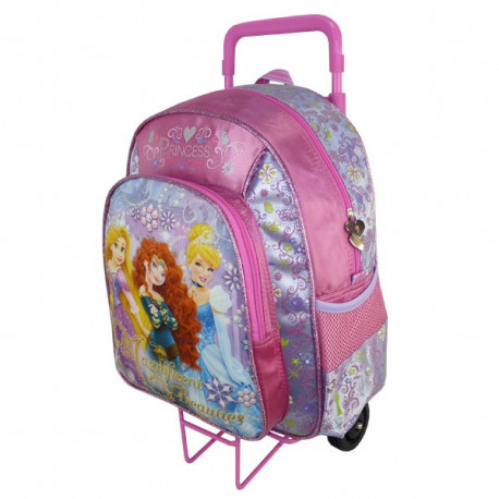 Mochila con ruedas Trolley escolar Princesa Bella 40 CM - Bolsa