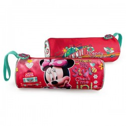Trousse ronde Minnie rouge 21 CM Traveler