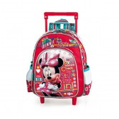Sac a roulettes Minnie Traveler rouge maternelle 30 CM