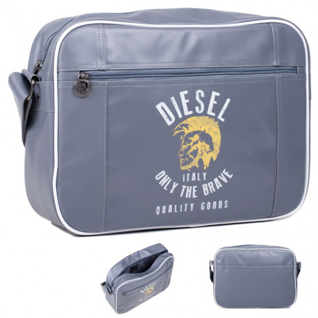 Sac reporter Diesel Anthracite Only the Brave 37 CM Haut de gamme