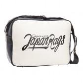 Bag reporter bag Japan Rags Navy & Ecru 39 CM