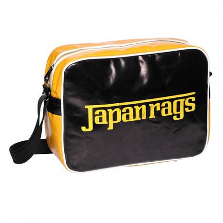 Bolso bolso reporter negro trapos del Japón y amarillo 39 CM