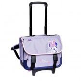 Cartable à roulettes Minnie violet Trolley 41 CM Haut de gamme