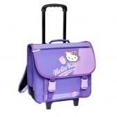 Cartable à roulettes Hello Kitty Violet Trolley 41 CM Haut de gamme