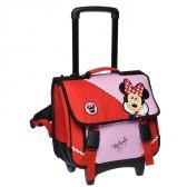 Cartable à roulettes Minnie Classic rouge Trolley 38 CM Haut de gamme