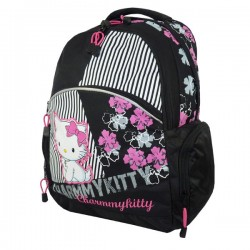 Charmmy Kitty black Flower 43 CM high-end backpack