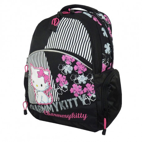 Backpack Charmmy Kitty black Flower 43 CM
