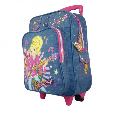 Sac à roulettes Polly Pocket 38 CM Trolley - Cartable