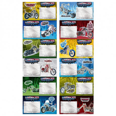 Etichetta moto