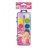 Palette peinture à l'eau  Barbie
