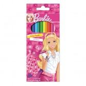 12 crayons de couleurs Barbie