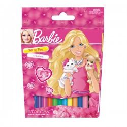 12 feutres de couleurs Barbie