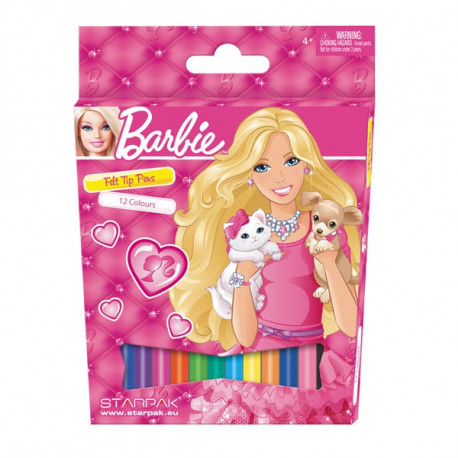 12 colores de Barbie fieltros